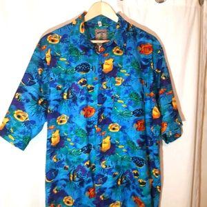 *vintage* Hawaiian cotton button down Shirt